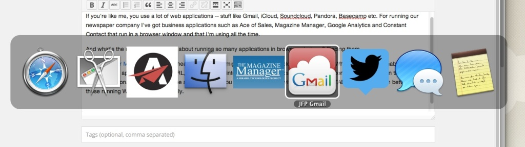 Switching between apps