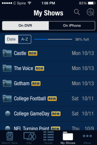 The TiVo iPhone app is a nice touch